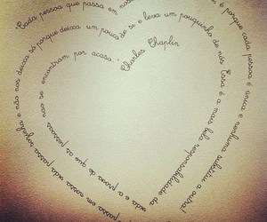 heart, charles chaplin, and text image