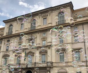 bubbles and building image