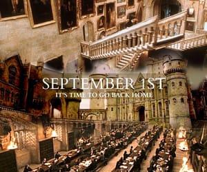 harry potter, September, and hogwarts image