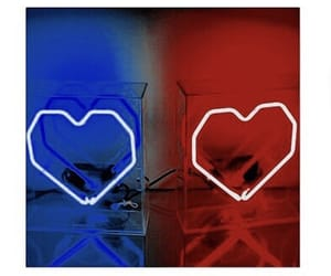 aesthetic, blue, and hearts image