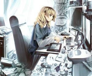 anime and computer image