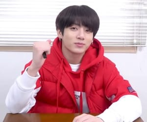 bts, jungkook, and red image