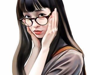 desing, digital art, and glasses image