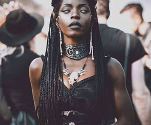 witch, black, and goth image