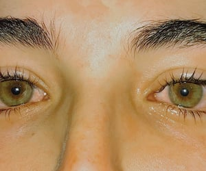 anxiety, brunette, and eyebrows image