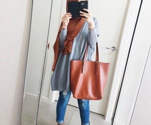 hijab, girl, and style image