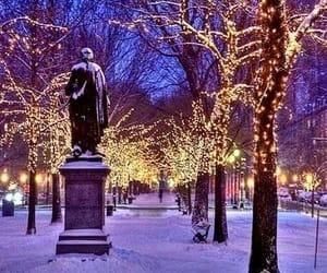 christmas, lights, and ny image