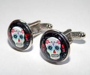 etsy, skull jewelry, and skull earrings image