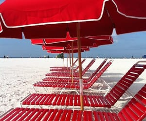 beach and red image