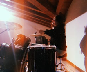 drum, drummer, and happy image