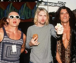 nirvana, kurt cobain, and flea image