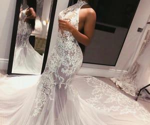 beautiful, pose, and weddingdress image