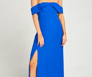 blue, dress, and friends image