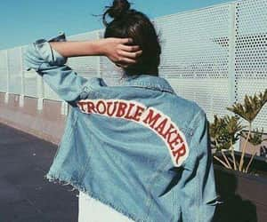 girls, denim jackets, and styles image
