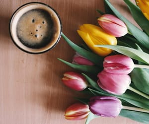 coffee, colors, and flowers image