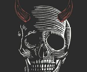 Devil and skull image