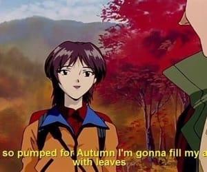 autumn, anime, and fall image