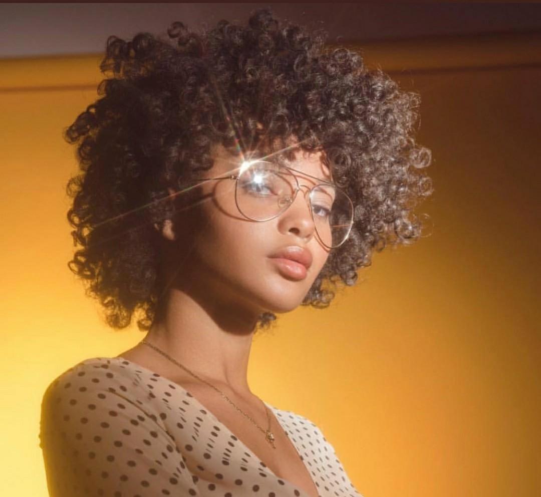 Afro black girl African American