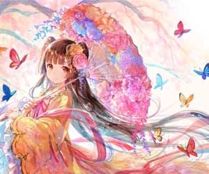 anime girl, kimono, and anime image