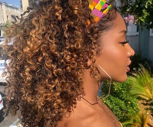 black girl, curls, and fashion image