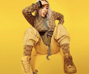 yellow, billie, and billie eilish image