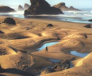 nature, sea, and sand image