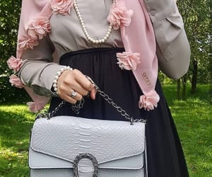 fashion, modesty, and flowers image