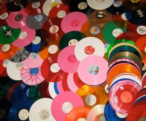 record, colorful, and music image