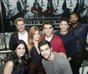 harry shum jr, katherine mcnamara, and shadowhunters cast image