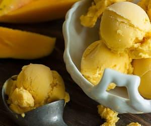 ice cream, food, and yellow image