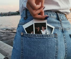 jeans, polaroid, and photo image