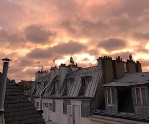 paris, roof, and sky image