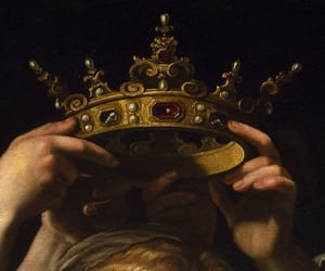art, crown, and painting image