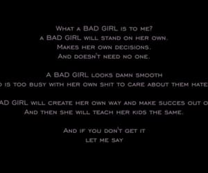 bad girl, words, and quote image