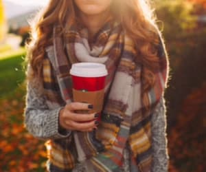 girl and starbucks image