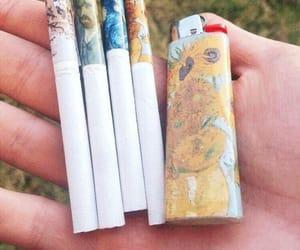 cigarette, art, and van gogh image