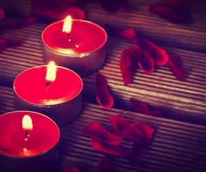 candle, red, and light image