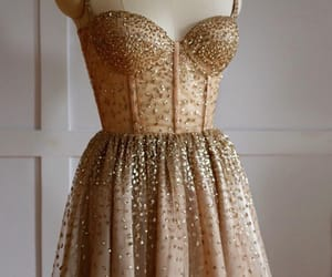 dress, luxury, and gold image