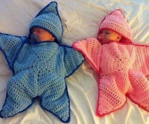 baby, blue, and stars image