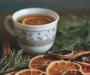 orange, tea, and drink image