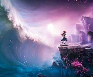 anime, girl, and water image