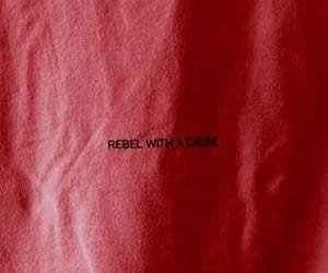 red, aesthetic, and rebel image