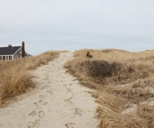 beach, sand, and house image