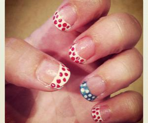 nails, cute, and fourth of the july image