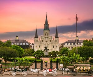 cathedral, photography, and new orleans image