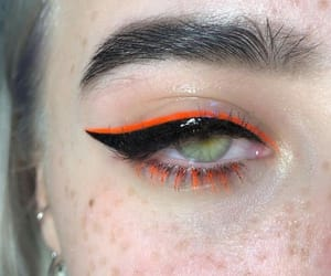 makeup, eyeliner, and orange image