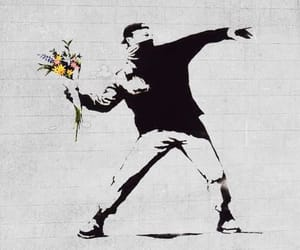BANKSY, flowers, and art image