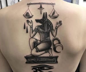 anubis, tattoo, and belleza image