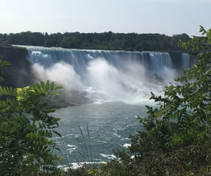 blue, travel, and waterfall image