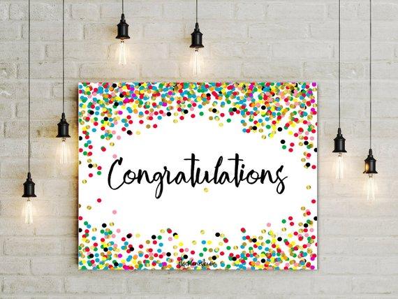 printable congratulations sign congrats party decorations